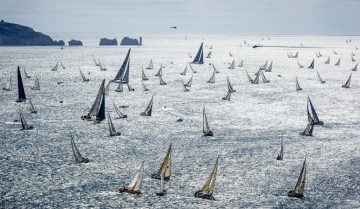 The new course from Cowes to Cherbourg via the Fastnet Rock will see new challenges for navigators and crews in next year's 695 nm Rolex Fastnet Race © ROLEX/Kurt Arrigo