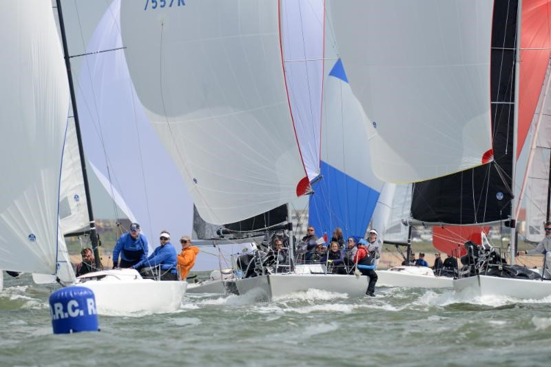 Close quarters action amongst the Vice Admiral's Cup classes © Rick Tomlinson
