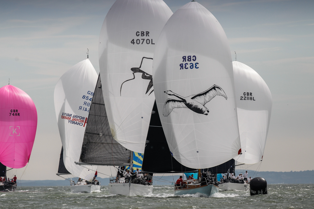 The Royal Ocean Racing Club's IRC National Championship in the Solent saw light conditions on the first day © Paul Wyeth/pwpictures.com