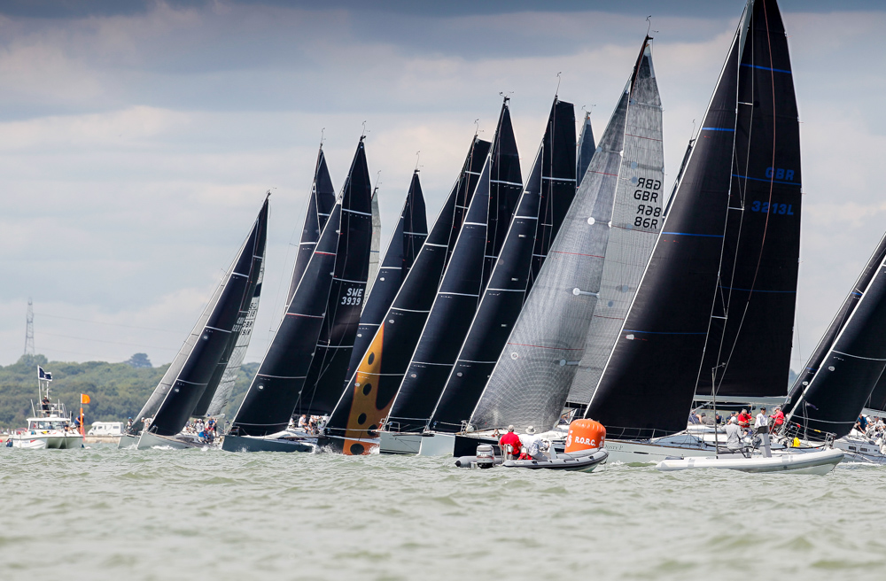 Good racing on day 2 of the IRC National Championship on the Solent, with IRC 2 the most competitive and biggest class racing  © Paul Wyeth/pwpictures.com